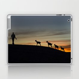 Africa sunset with goats Laptop & iPad Skin