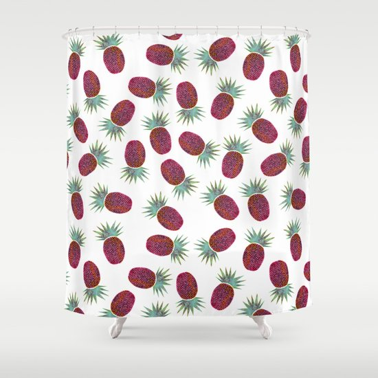 Chevron Pineapple Shower Curtain