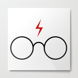 harry poter glasses Metal Print