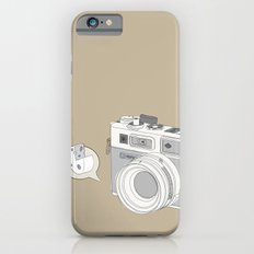 """Yashica Camera - """"Say Cheese"""" - soft-brown Slim Case iPhone 6s"""