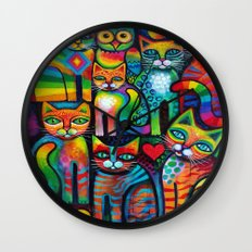 Owl and Pussicats Wall Clock