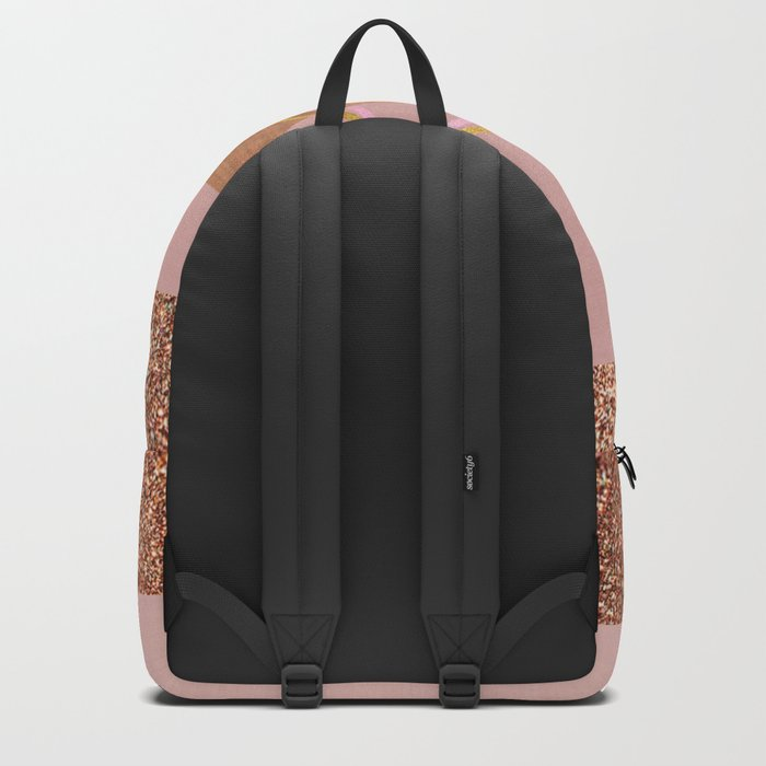 Bronze glitter glam Backpack