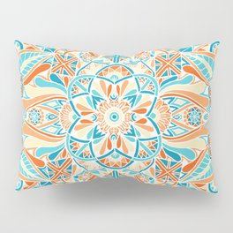 Inverted Beachy Mandala Pillow Sham
