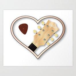 Love Guitar Art Print