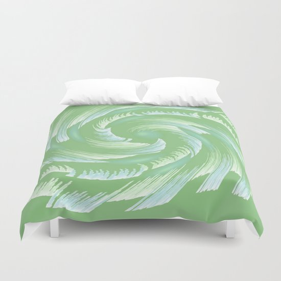 Water Swirl Abstract Duvet Cover