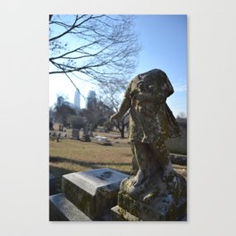 Girl in a Graveyard Canvas Print