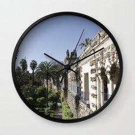 Royal Garden View - Alcazar of Seville Wall Clock