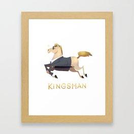 racehorses - kingsman Framed Art Print