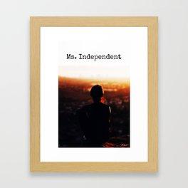 Ms. Independent Archetype Framed Art Print