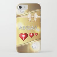 abigail larson iPhone & iPod Cases featuring Abigail 01 by Daftblue