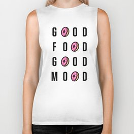 Good Food Good Mood Biker Tank