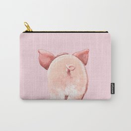 Pig Cutie Butt in Pink Carry-All Pouch