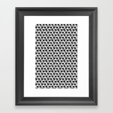 Drawn Triangles 02 Framed Art Print