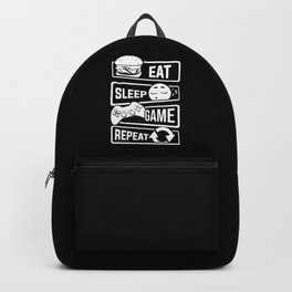 Eat Sleep Game Repeat | Video Game Console Gaming Backpack