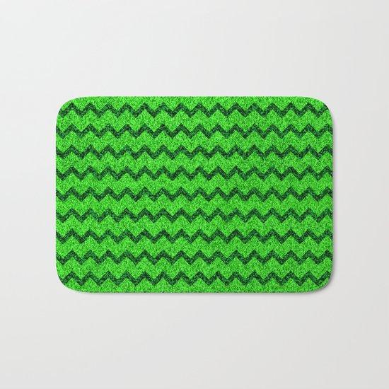 Chevron Glitter Pattern 05 Bath Mat