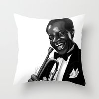 louis Throw Pillows featuring Louis by Simone Bellenoit : Art & Illustration