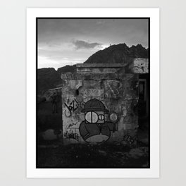 Detective graffiti Art Print