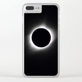 Total Solar Eclipse Corona Clear iPhone Case