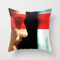 napoleon Throw Pillows featuring Silent Napoleon by Xbird