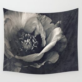 canvas peony Wall Tapestry