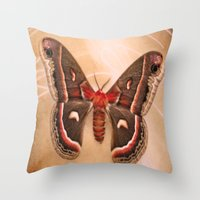 moth Throw Pillows featuring Moth by KunstFabrik_StaticMovement Manu Jobst