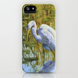 Great Egret Hunting iPhone Case