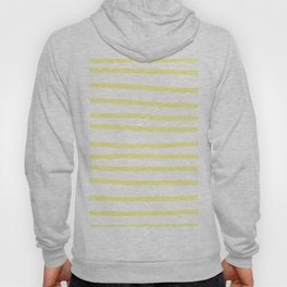 Simply Drawn Stripes in Pastel Yellow Hoody