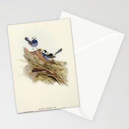 Blue birds illustration Stationery Cards