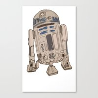 r2d2 Canvas Prints featuring R2D2 by colleencunha
