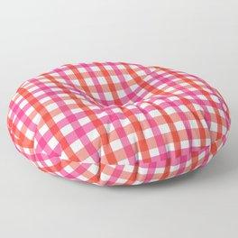 Gingham: Strawberry Flavor Floor Pillow