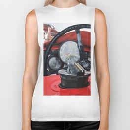 Old racing red car Biker Tank