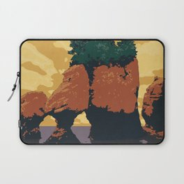 Hopewell Rocks Poster Laptop Sleeve