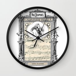 Frederick Chopin Polonaise art Wall Clock