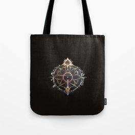 Saraswati Mandala Black Tote Bag