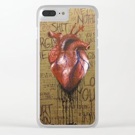 Destruction of the Mind Clear iPhone Case