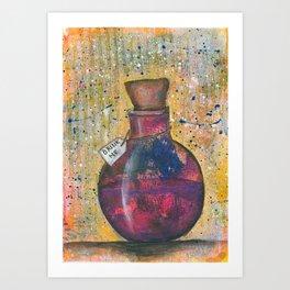Drink me vial Art Print