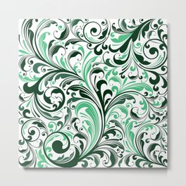 Abstract Floral 30 Metal Print
