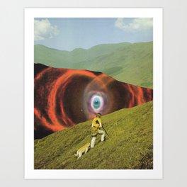 Space Trail Art Print