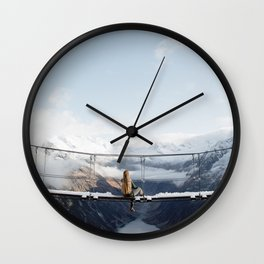Austria Suspension Bridge Wall Clock