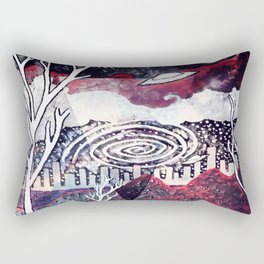 Night Travels revisited Rectangular Pillow