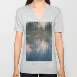 Under the weeping willow Unisex V-Neck