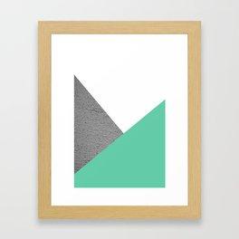 Concrete vs Aquamarine Geometry Framed Art Print