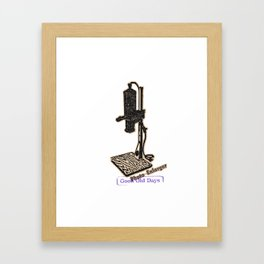 vintage enlarger ad Framed Art Print