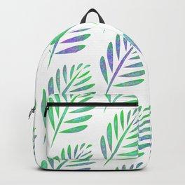 Modern Tropical Leaf Pattern Backpack