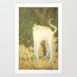 Bonnard - White Cat Art Print