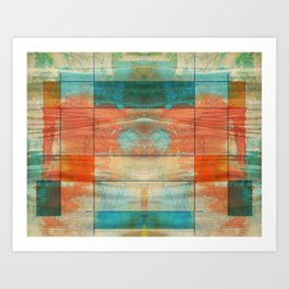 Mid-Century Modern Art 5.0 - Mirror Graffiti Art Print