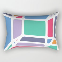 Hypercube Rectangular Pillow