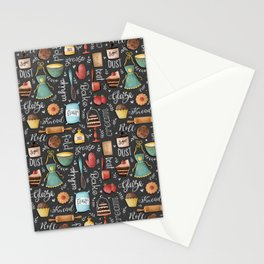 Bake Love Pattern Stationery Cards