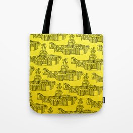 Yellow Submarine Pattern Tote Bag