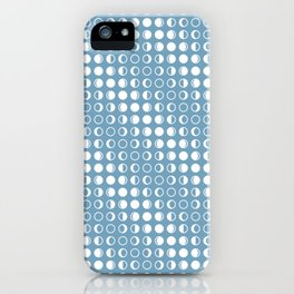 Moon Phases Pattern with Geometric Design iPhone Case